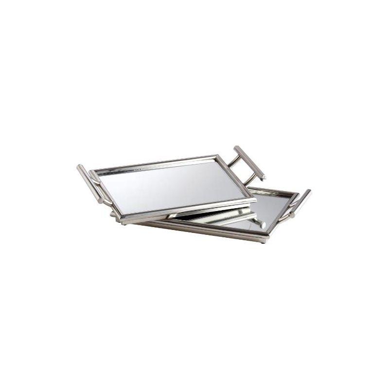 "Cyan Design 05820 21.75"" x 12.5"" Mirror Nesting Tray Stainless Steel"