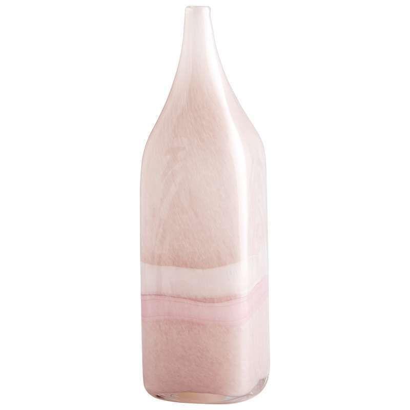 "Cyan Design 05880 14"" Large Tiffany Vase Pink / White Home Decor Vases"