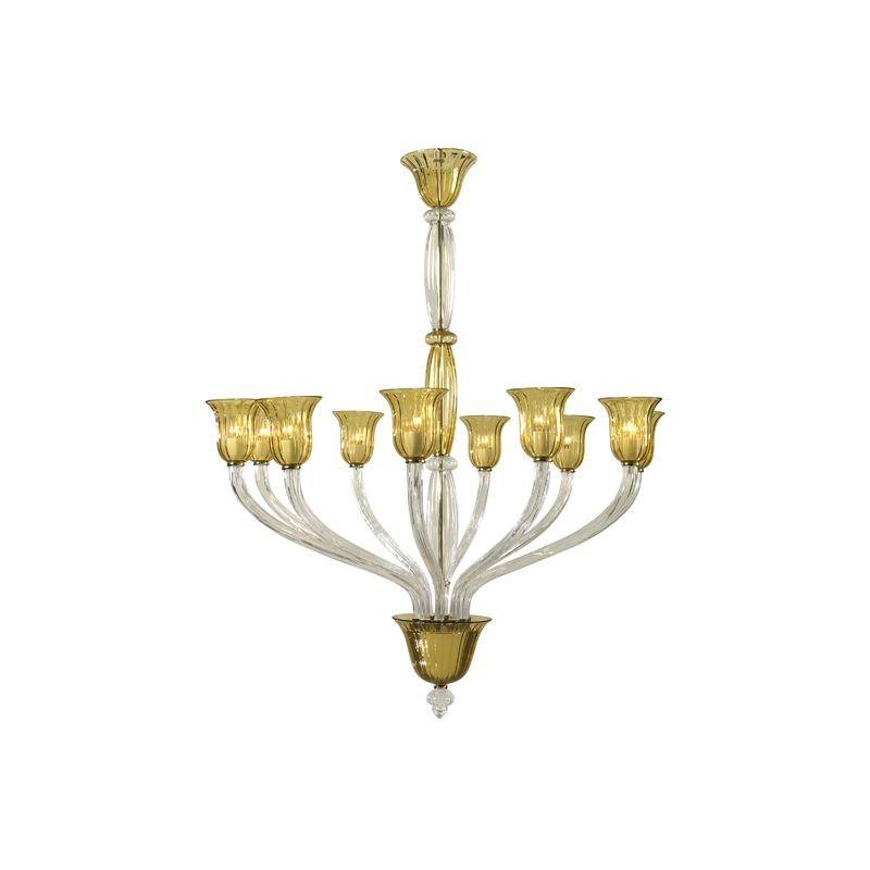 "Cyan Design 6509-10 60.25"" Ten Lamp Chandelier from the Vetrai"