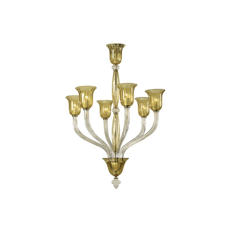 "Cyan Design 6509-6 44.5"" Six Lamp Chandelier from the Vetrai"