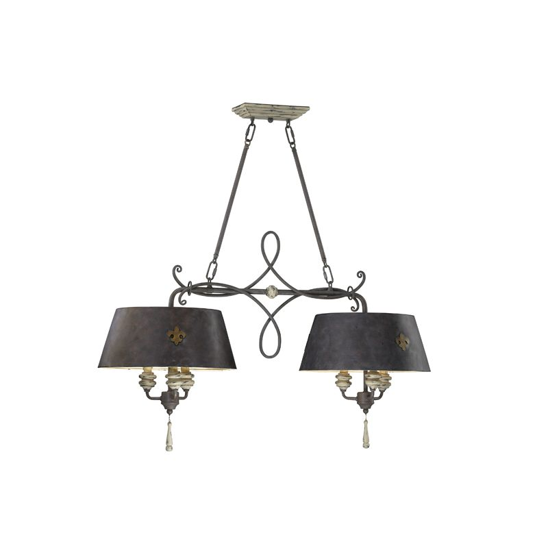"""Cyan Design 6514-6 40"""" Six Lamp Island from the Provence Collection"""