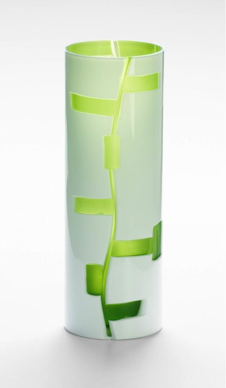 "Cyan Design 04242 12"" Small Danish Vase White / Green Home Decor Vases"