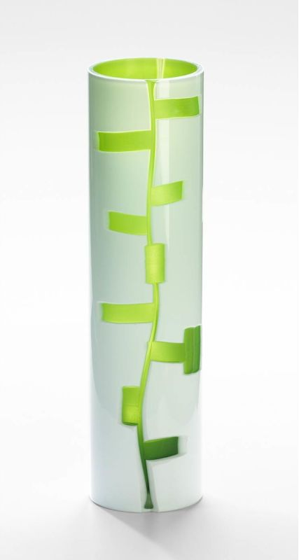 "Cyan Design 04243 16"" Medium Danish Vase White / Green Home Decor"