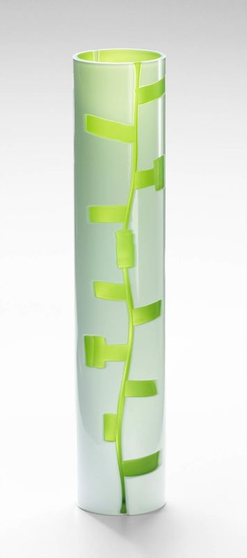 "Cyan Design 04244 19.75"" Large Danish Vase White / Green Home Decor"