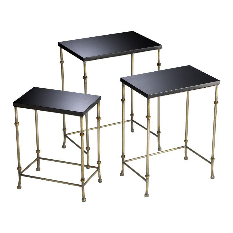 Cyan Design 04265 Sanders Nesting Tables Antique Flemish and Black