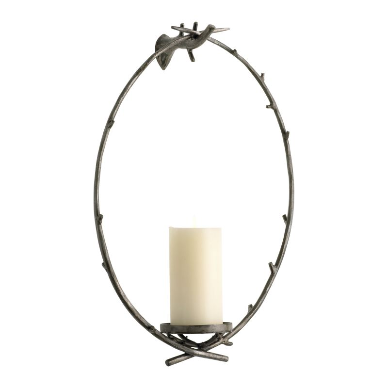 Cyan Design 04340 Branch Wall Candleholder Raw Steel Home Decor Candle