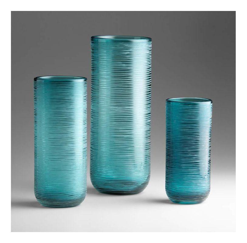 "Cyan Design 04358 11.5"" Medium Libra Vase Aqua Home Decor Vases"