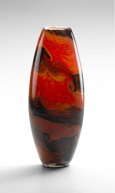 "Cyan Design 04362 11.75"" Small Italian Vase Caramel Swirl Home Decor"