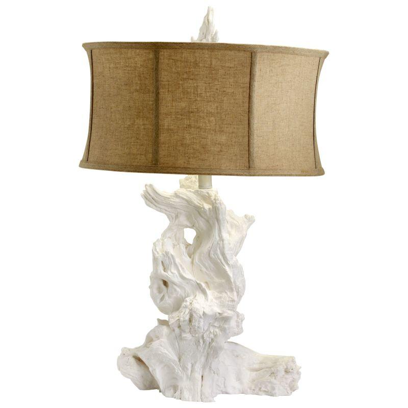 Cyan Design 04438 Driftwood 1 Light Table Lamp White Lamps