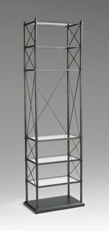 Cyan Design 04454 6 Shelf Everton Etagere Oiled Bronze Furniture