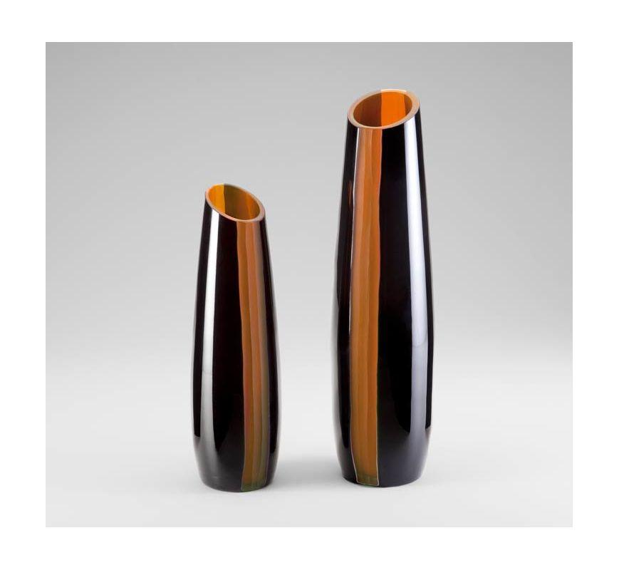 "Cyan Design 04497 12"" Small Ader Vase Amber / Black Home Decor Vases"