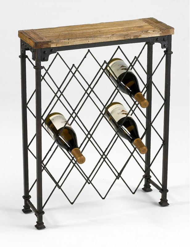 "Cyan Design 04542 28.75"" Hudson Wine Rack Wine Rack Rustic Furniture"