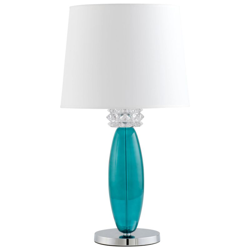 Cyan Design 04663 Vivien 1 Light Table Lamp Turquoise and White Lamps