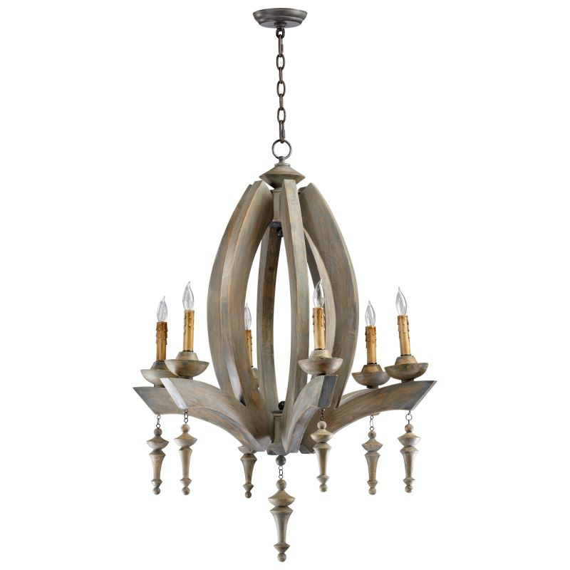 Cyan Design 04704 Manning 6 Light 1 Tier Chandelier Stained Wood Sale $2537.50 ITEM#: 2257476 MODEL# :4704 :