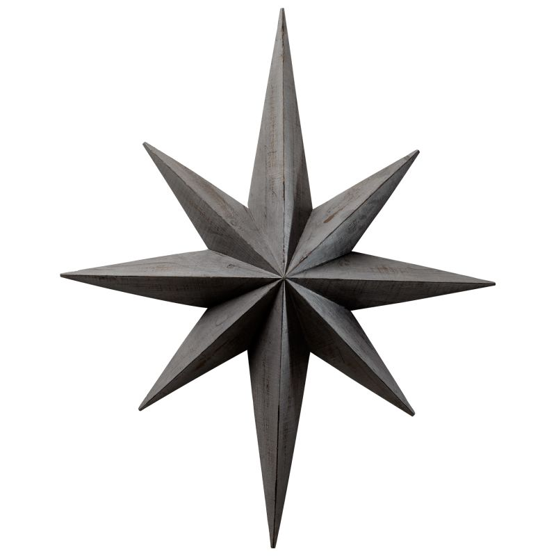 Cyan Design 04710 Star Wall Decoration Distressed Gray Home Decor Wall