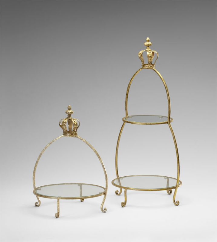 "Cyan Design 04712 30"" Crowned Two Tier Stand Gold Furniture Shelving"