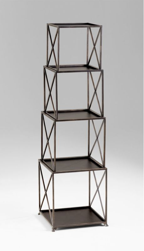 Cyan Design 04719 5 Shelf Small Surrey Etagere Bronze Furniture