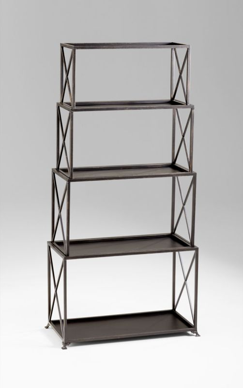 Cyan Design 04720 5 Shelf Large Surrey Etagere Bronze Furniture