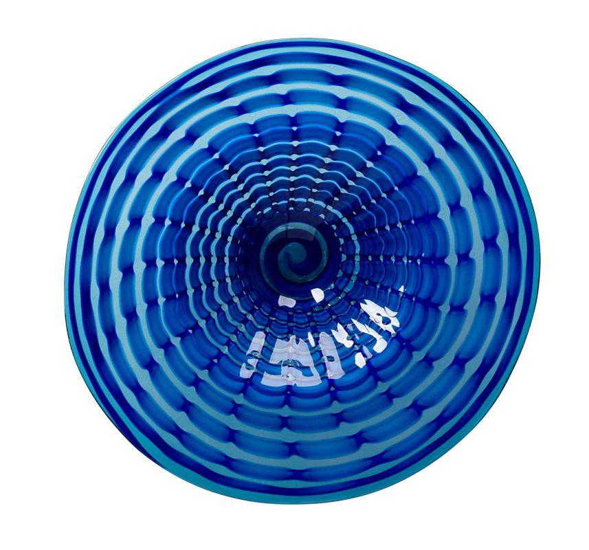 Cyan Design 04774 Medium Aurora Plate Blue Home Decor Decorative