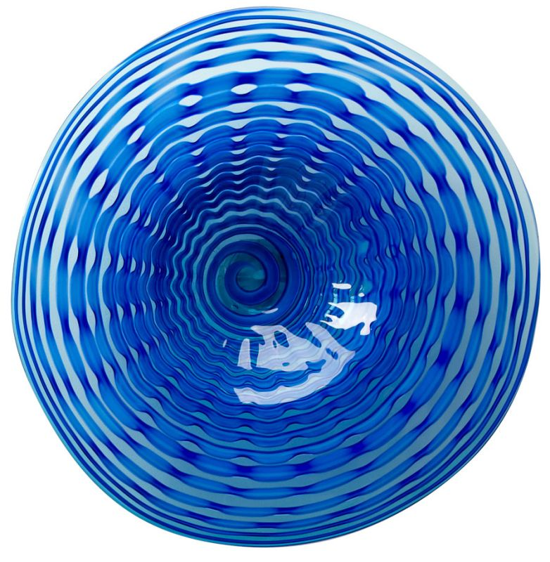 Cyan Design 04775 Large Aurora Plate Blue Home Decor Decorative Plates