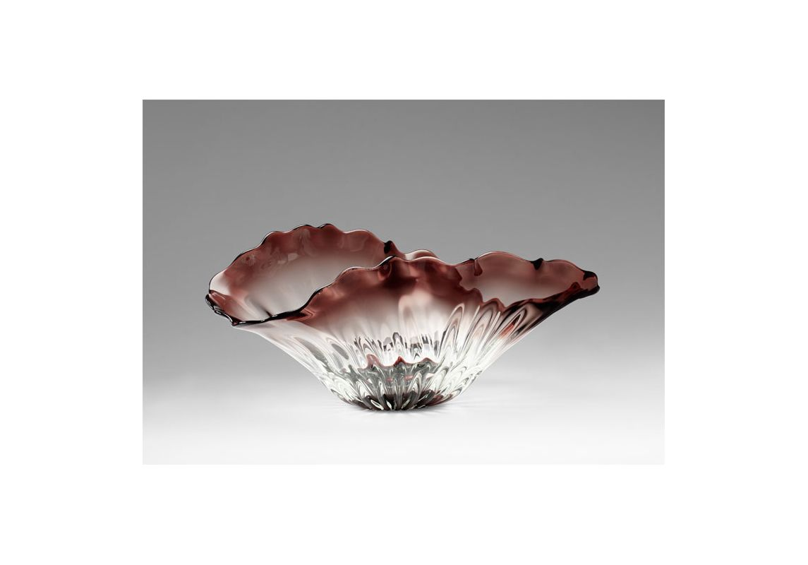 "Cyan Design 04779 12.75"" Miranda Bowl Clear Home Decor Decorative"