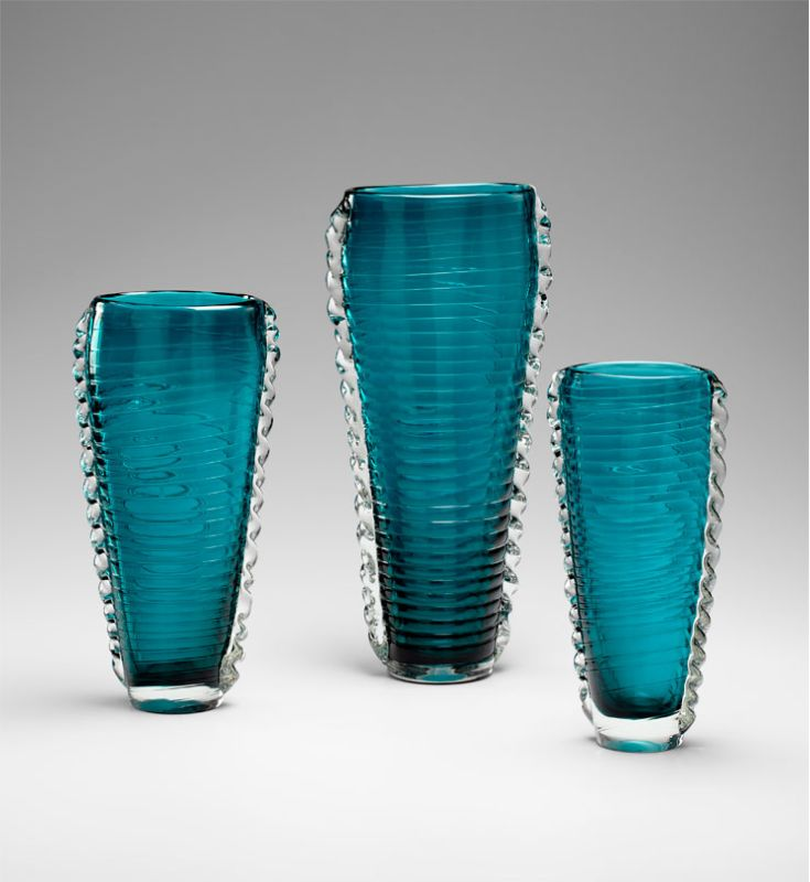 "Cyan Design 04782 12.5"" Medium Dollie Vase Cyan Blue Home Decor Vases"