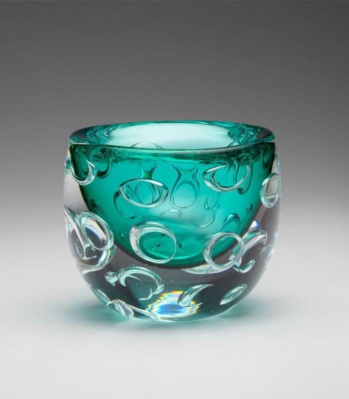 "Cyan Design 04797 5.25"" Round Bristol Vase Turquoise Home Decor Vases"
