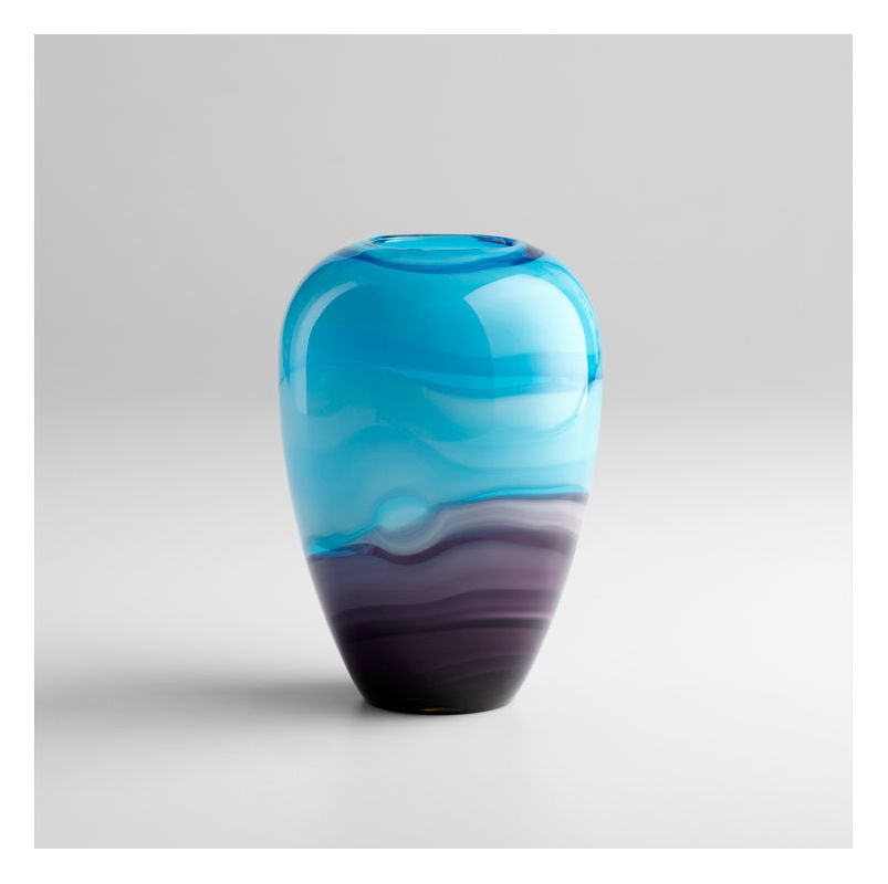 "Cyan Design 04809 9.5"" Callie Vase Turquoise / Purple Home Decor Vases"