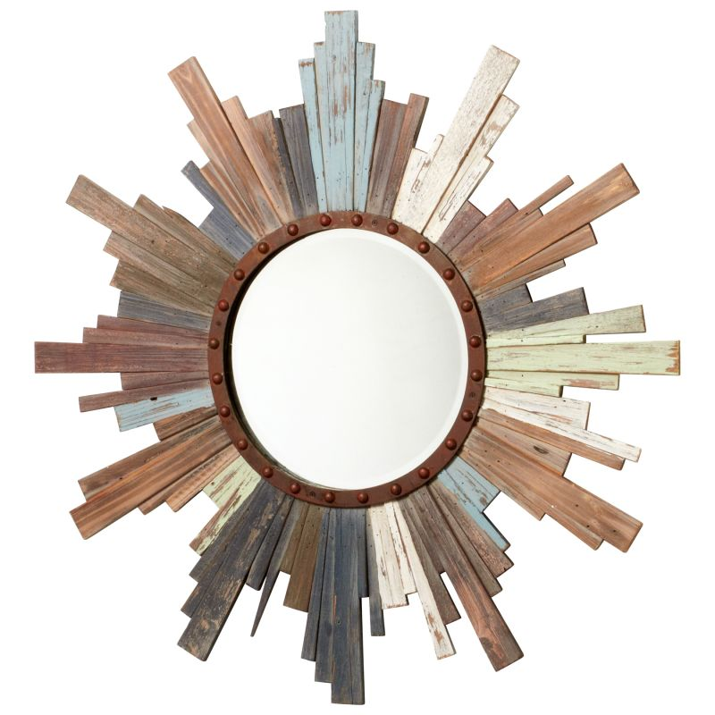 Cyan Design 04884 Davenport Rounded Mirror Multi Colored Home Decor