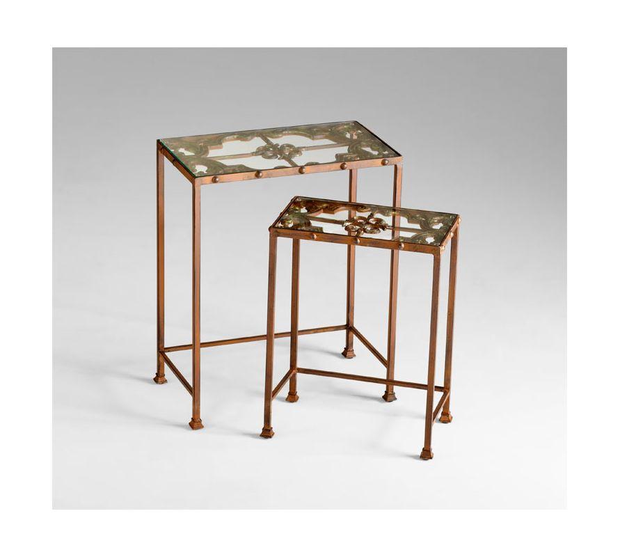 Cyan Design 04887 Gunnison Nesting Tables Rust Furniture Nesting