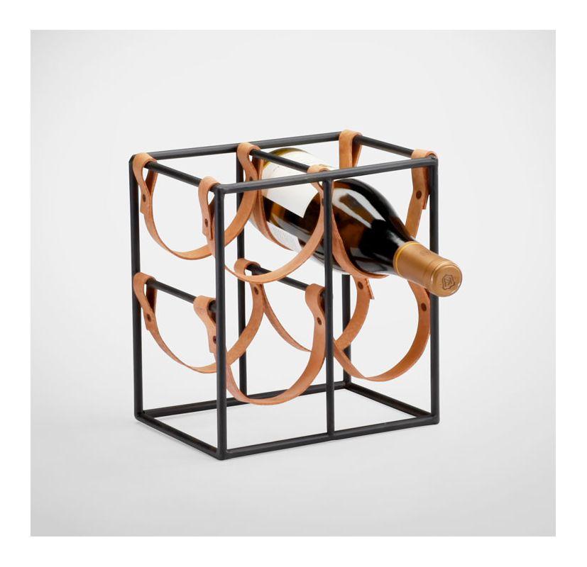 "Cyan Design 04913 9.5"" Small Wine Rack Raw Steel Home Decor Wine Racks"