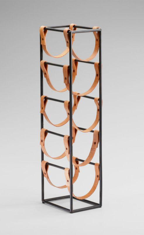 "Cyan Design 04914 21"" Large Wine Rack Raw Steel Home Decor Wine Racks"