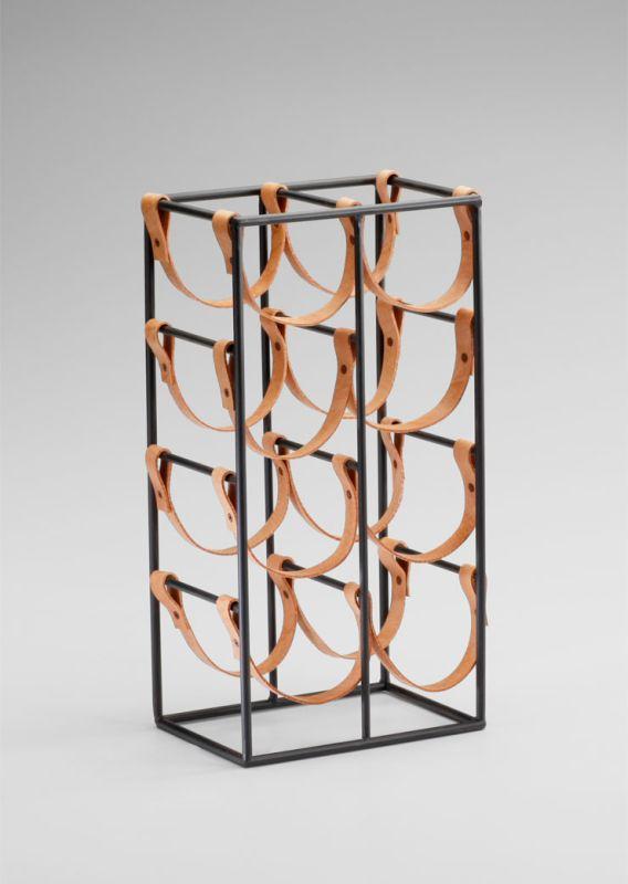 "Cyan Design 04915 17.25"" Wine Rack Raw Steel Home Decor Wine Racks"