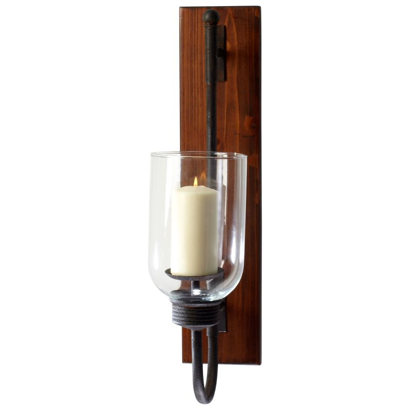 Cyan Design 04938 Sydney Candleholder Raw Iron and Natural Wood Home
