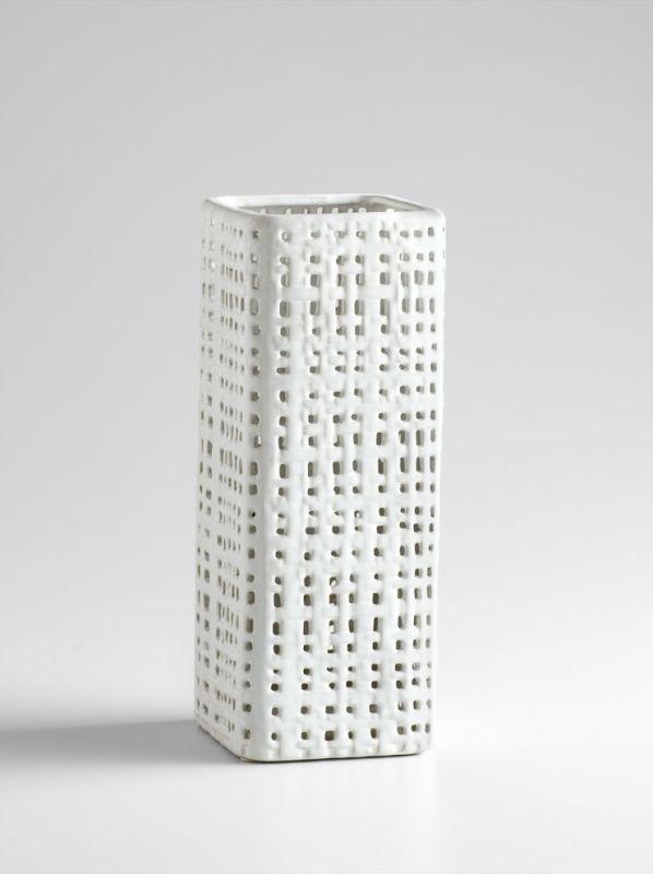 """Cyan Design 04998 15.5"""" Small Cordova Vase White / Cream Glaze Home"""