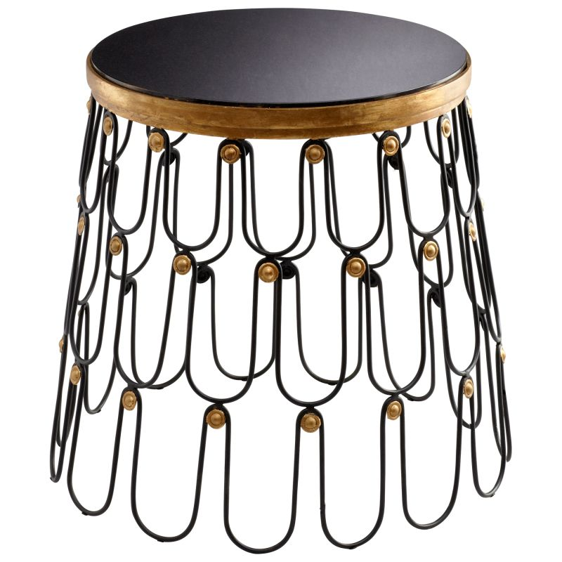 Cyan Design 05042 Fenton Accent Table Gold and Black Furniture End