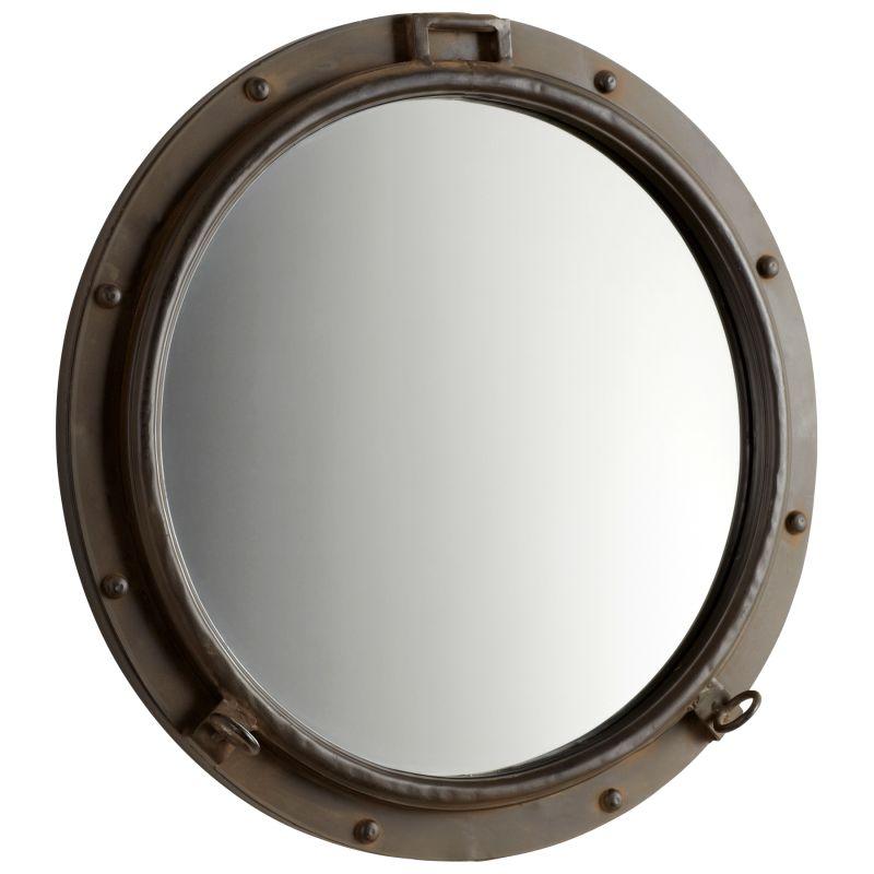 Cyan Design 05081 Porto Rounded Mirror Rustic Bronze Home Decor