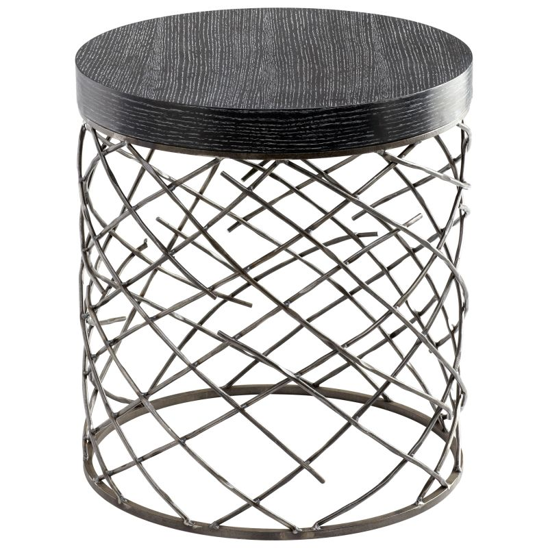 Cyan Design 05110 Marlow Accent Table Raw Steel Furniture End Tables