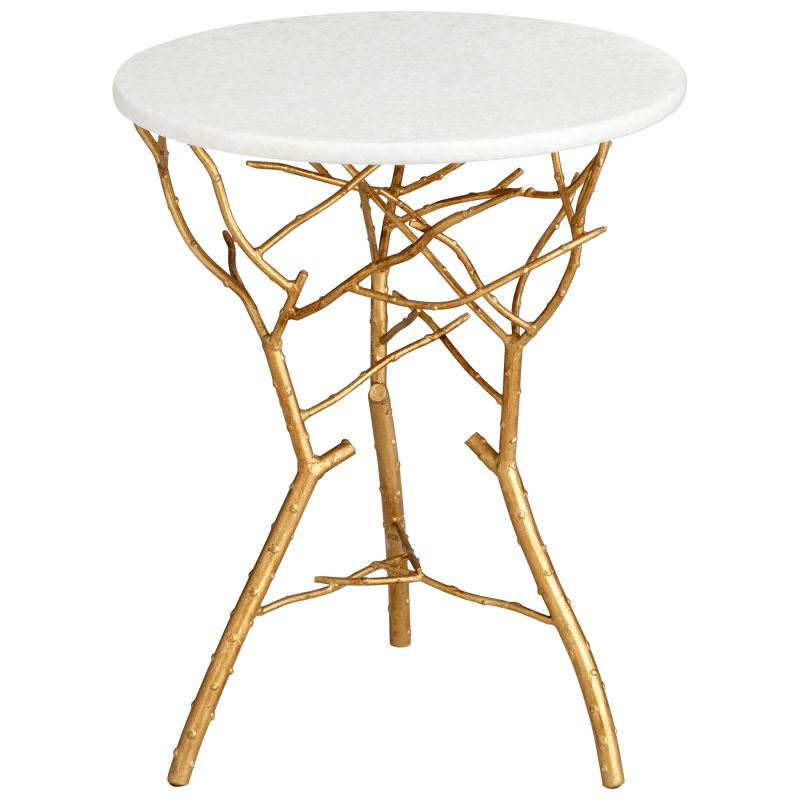Cyan Design 05116 Langley Accent Table Gold Leaf Furniture End Tables