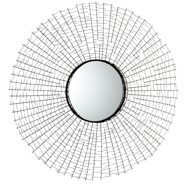 Cyan Design 05153 Roxie Rounded Mirror Graphite Home Decor Lighting