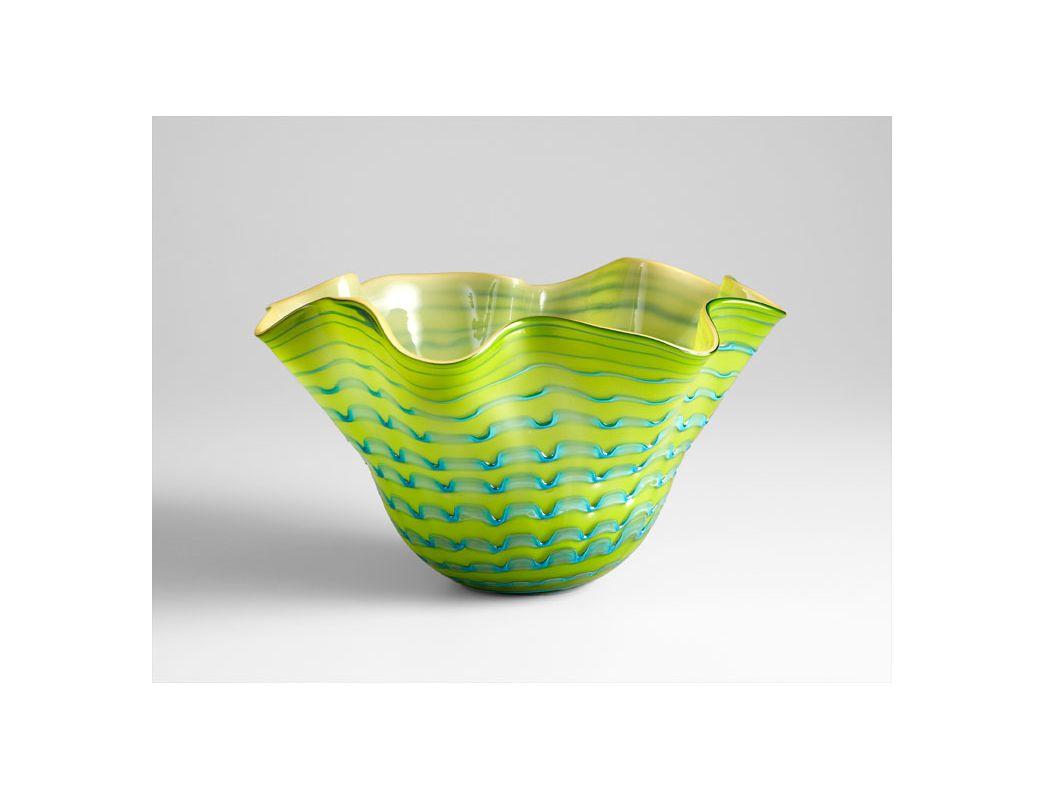 "Cyan Design 05162 11.4"" Large Glasgow Bowl Green / Blue Home Decor"
