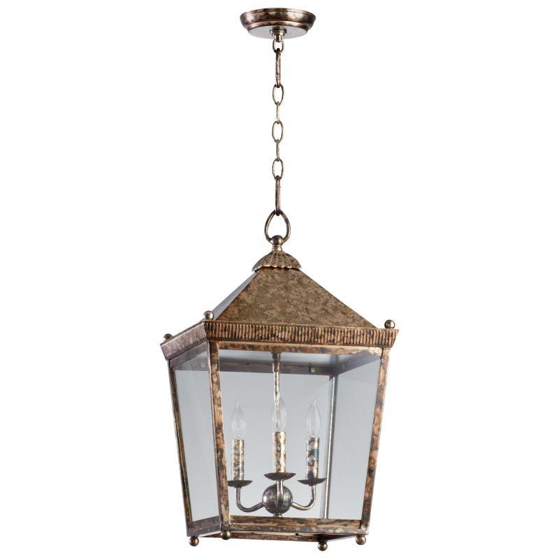 Cyan Design 05175 Ranch House 3 Light Lantern Pendant Rustic Acid