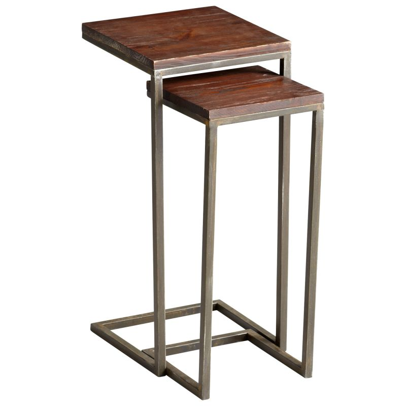 Cyan Design 05233 Kirby Nesting Tables Walnut and Graphite Furniture