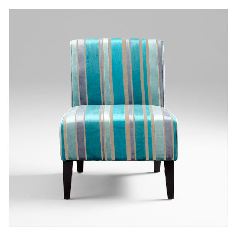 Cyan Design 05267 Ms. Stripy Blu Chair Turquoise Blue Furniture Side