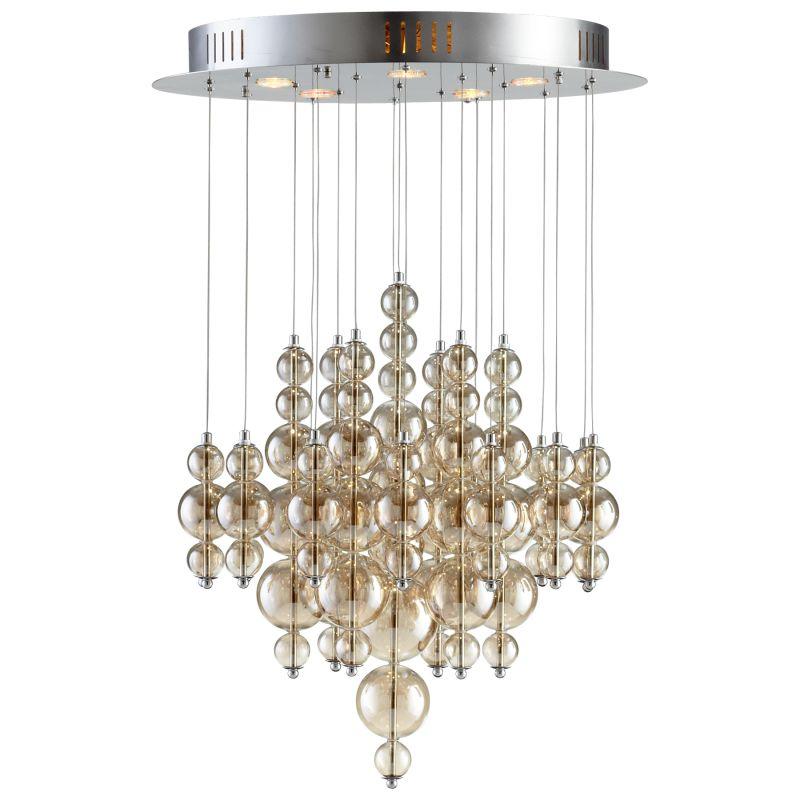 Cyan Design 05278 Bubbles Cash 5 Light Multi Light Pendant Smokey