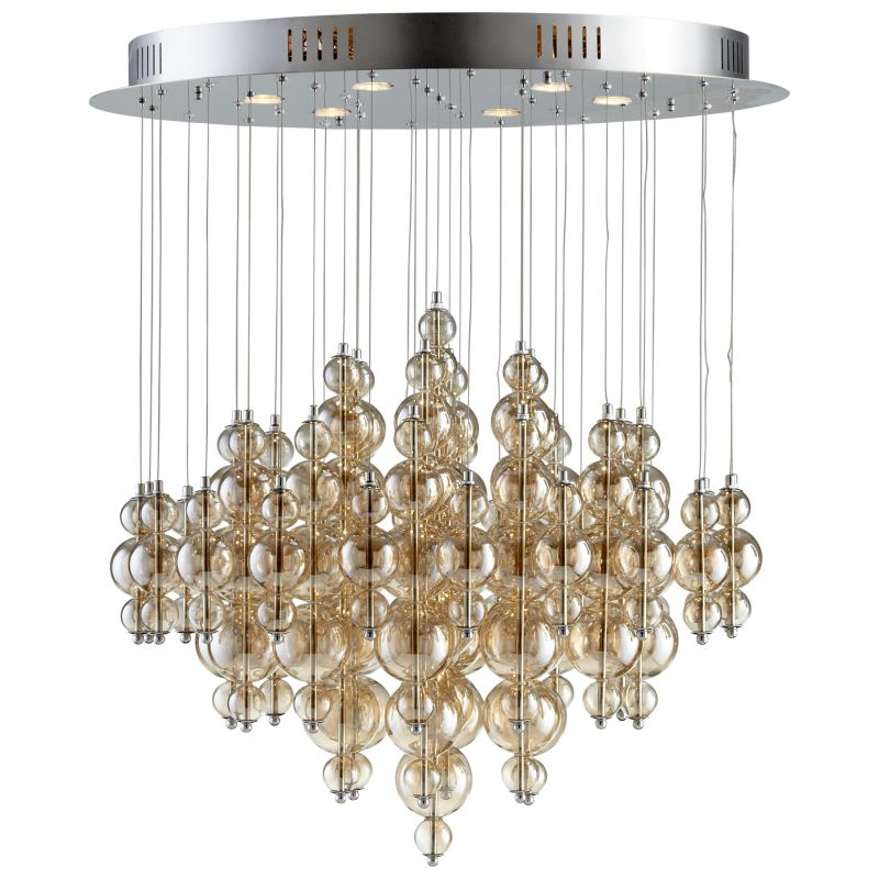 Cyan Design 05279 Bubbles Cash 6 Light Multi Light Pendant Smokey