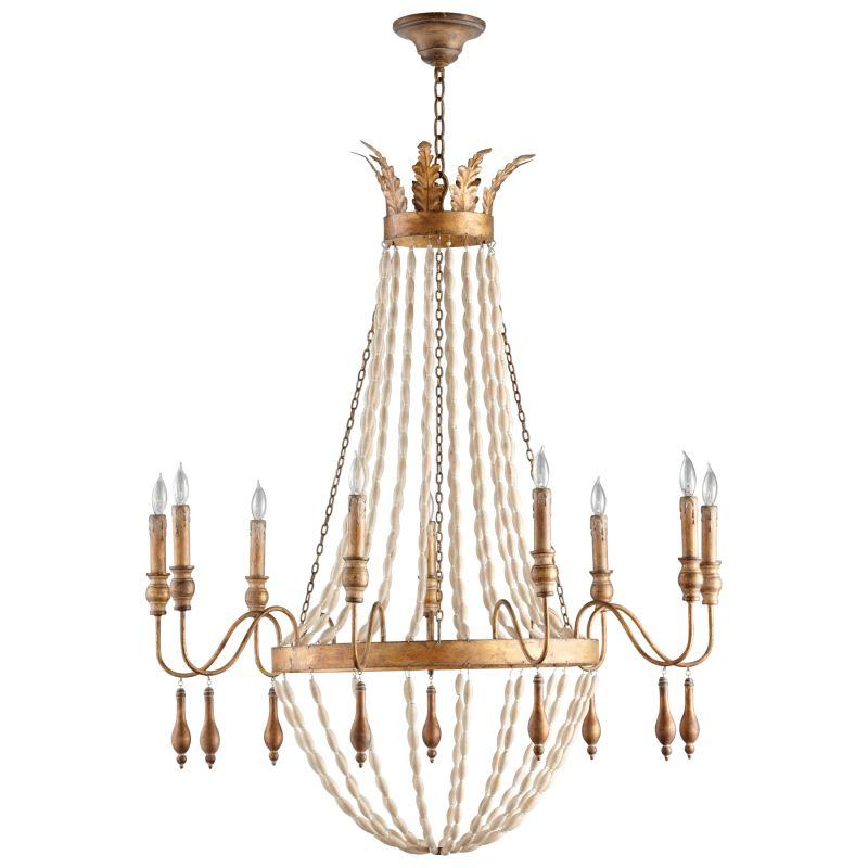 Cyan Design 05282 Alexandra 9 Light 1 Tier Chandelier Gold Indoor Sale $1157.50 ITEM#: 2257856 MODEL# :5282 UPC#: 810228020632 :