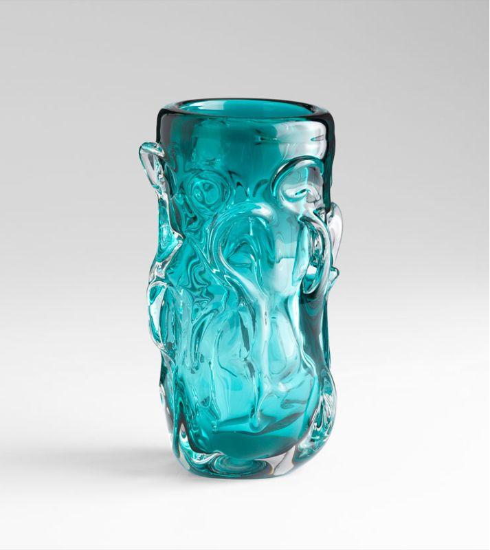"Cyan Design 05332 11.5"" Home Accent Vase Cyan Blue Home Decor Vases"