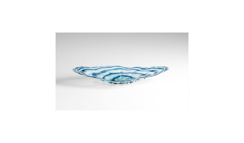 "Cyan Design 05362 39.75"" Decorative Plate Blue / Clear Home Decor"