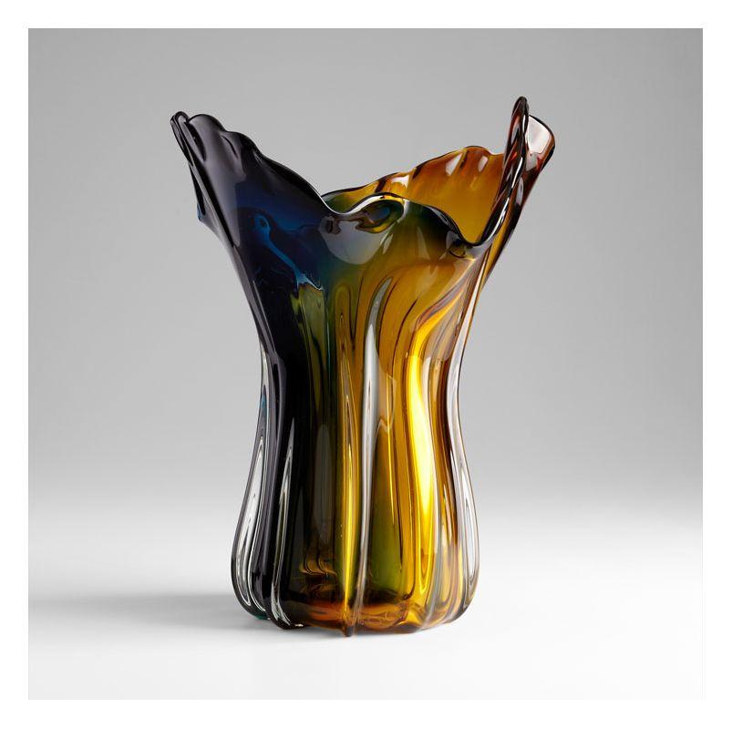"Cyan Design 05366 22"" Home Accent Vase Amber / Blue Home Decor Vases"